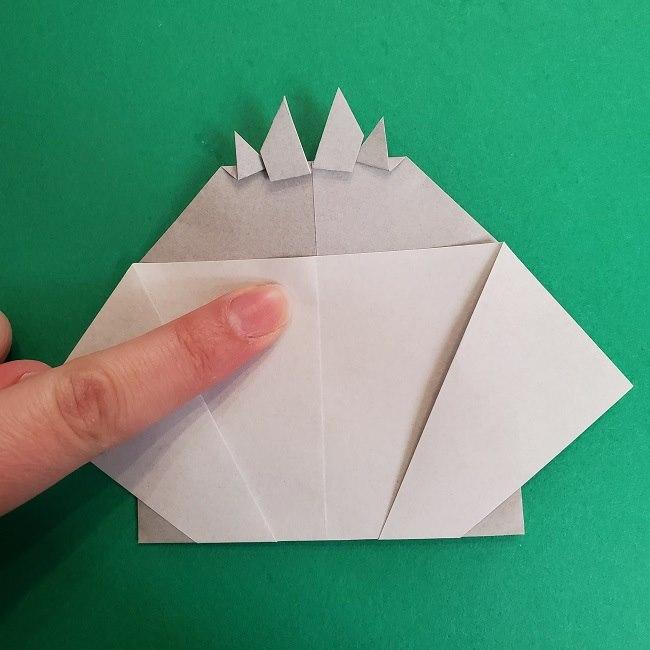 鬼滅の刃の折り紙 さねみ(不死川実弥)の折り方作り方2髪 (25)