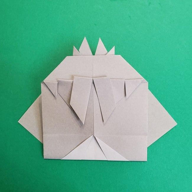鬼滅の刃の折り紙 さねみ(不死川実弥)の折り方作り方2髪 (26)