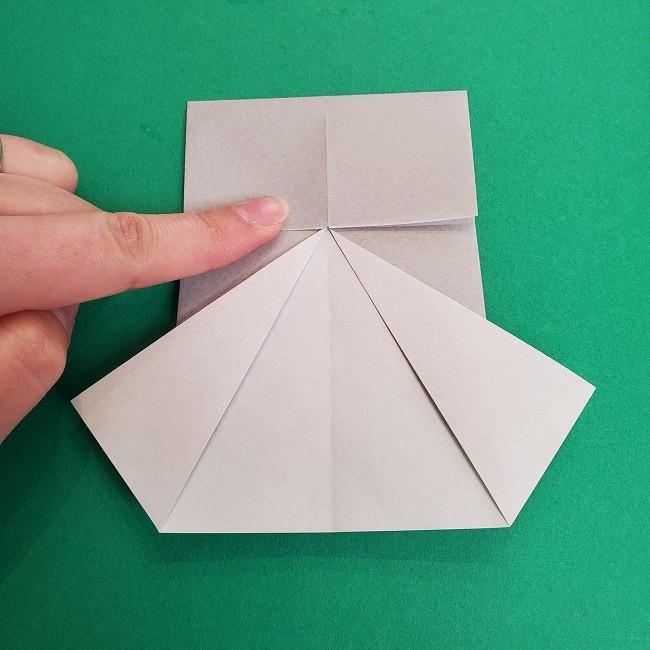 鬼滅の刃の折り紙 さねみ(不死川実弥)の折り方作り方2髪 (8)