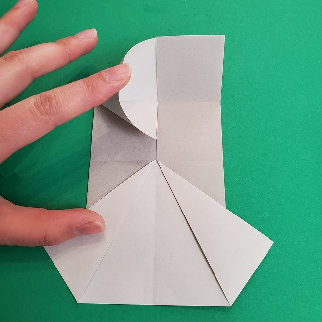 鬼滅の刃の折り紙 さねみ(不死川実弥)の折り方作り方2髪 (9)