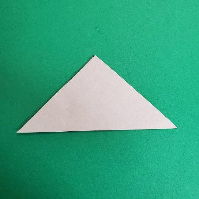 鬼滅の刃の折り紙 さねみ(不死川実弥)の折り方作り方3隊服 (2)