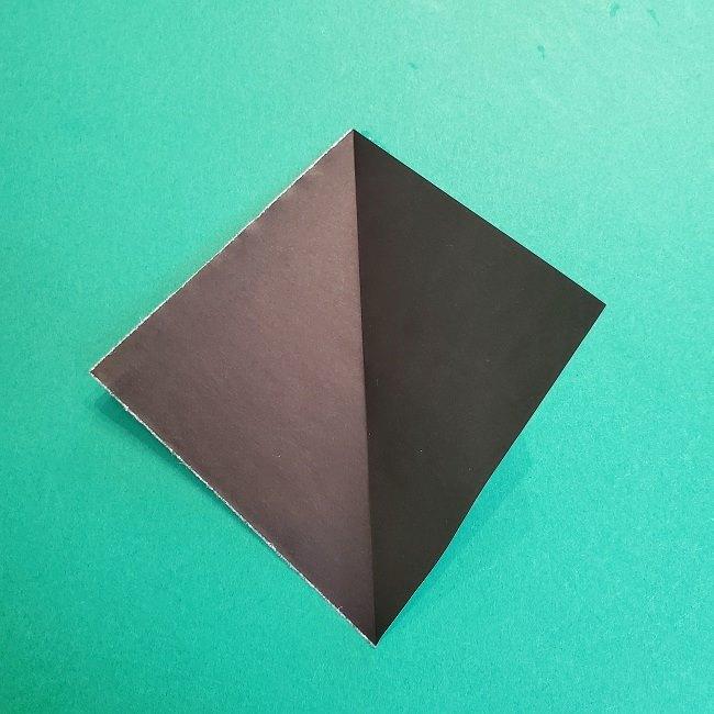 鬼滅の刃の折り紙 さねみ(不死川実弥)の折り方作り方3隊服 (3)