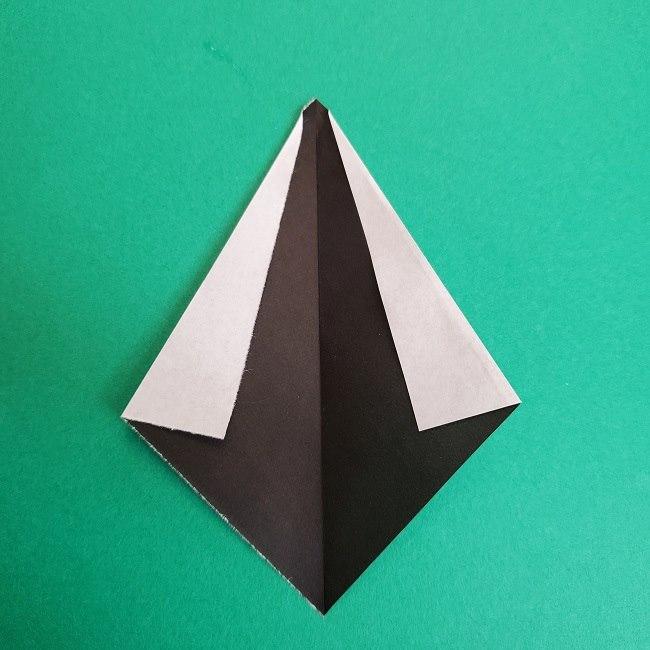 鬼滅の刃の折り紙 さねみ(不死川実弥)の折り方作り方3隊服 (4)
