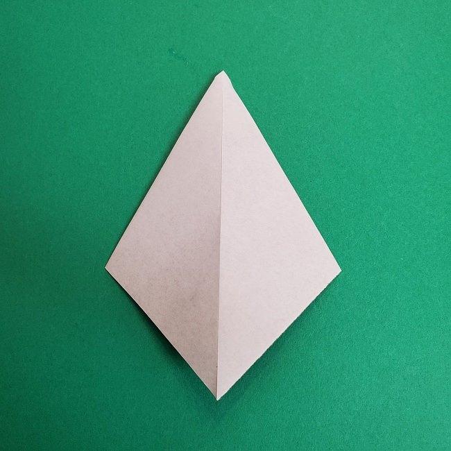 鬼滅の刃の折り紙 さねみ(不死川実弥)の折り方作り方3隊服 (5)