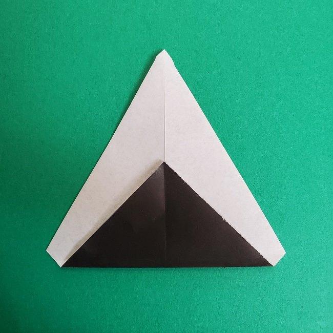 鬼滅の刃の折り紙 さねみ(不死川実弥)の折り方作り方3隊服 (6)