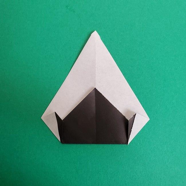 鬼滅の刃の折り紙 さねみ(不死川実弥)の折り方作り方3隊服 (7)