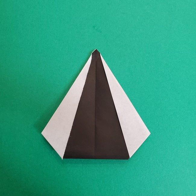 鬼滅の刃の折り紙 さねみ(不死川実弥)の折り方作り方3隊服 (8)