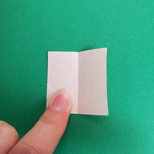 鬼滅の刃の折り紙 さねみ(不死川実弥)の折り方作り方4胸元 (3)