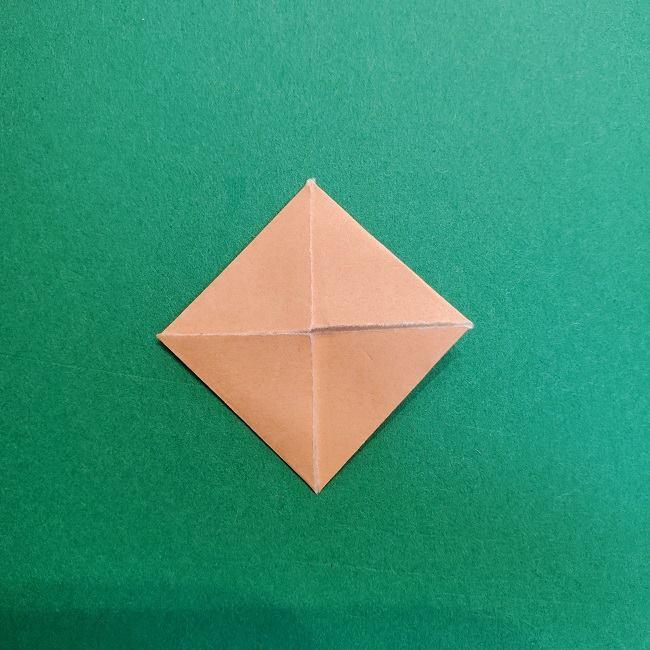 鬼滅の刃の折り紙 さねみ(不死川実弥)の折り方作り方4胸元 (4)
