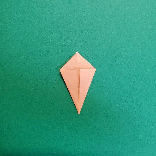 鬼滅の刃の折り紙 さねみ(不死川実弥)の折り方作り方4胸元 (5)