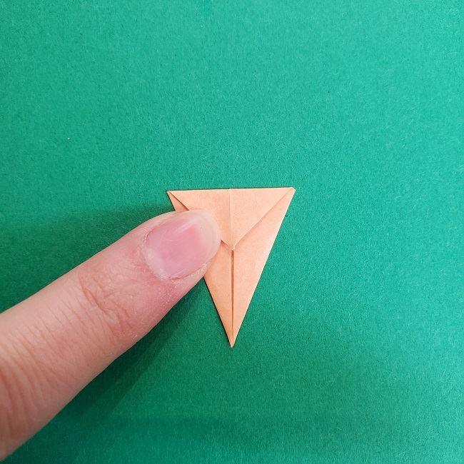 鬼滅の刃の折り紙 さねみ(不死川実弥)の折り方作り方4胸元 (6)