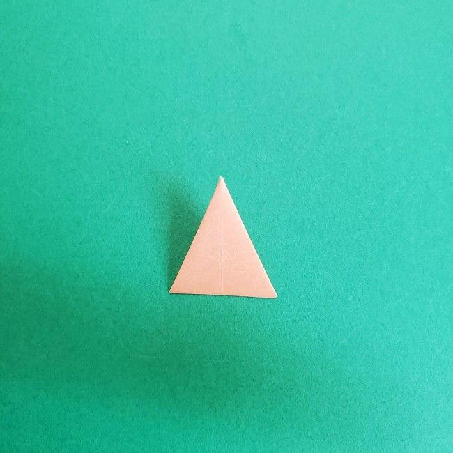 鬼滅の刃の折り紙 さねみ(不死川実弥)の折り方作り方4胸元 (7)