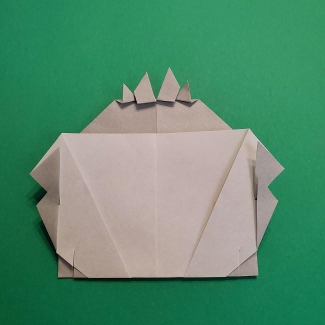 鬼滅の刃の折り紙 さねみ(不死川実弥)の折り方作り方5完成 (12)