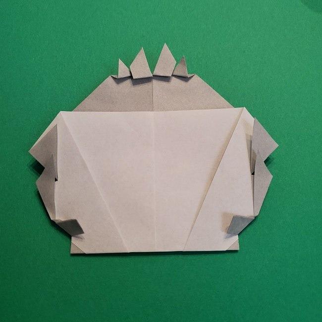 鬼滅の刃の折り紙 さねみ(不死川実弥)の折り方作り方5完成 (13)