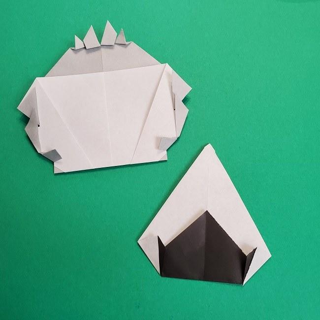 鬼滅の刃の折り紙 さねみ(不死川実弥)の折り方作り方5完成 (14)