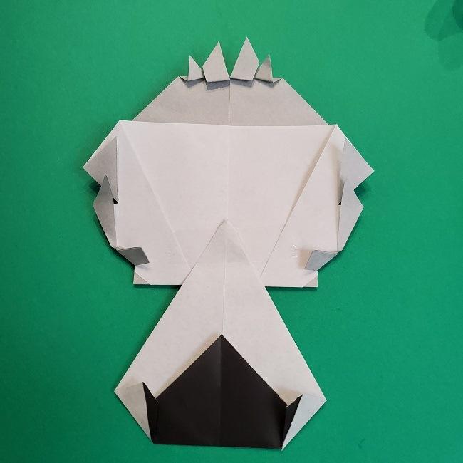 鬼滅の刃の折り紙 さねみ(不死川実弥)の折り方作り方5完成 (15)