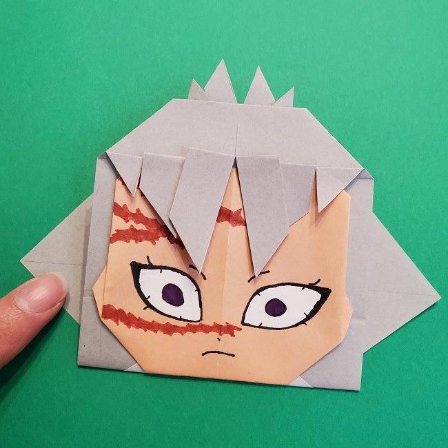 鬼滅の刃の折り紙 さねみ(不死川実弥)の折り方作り方5完成 (5)
