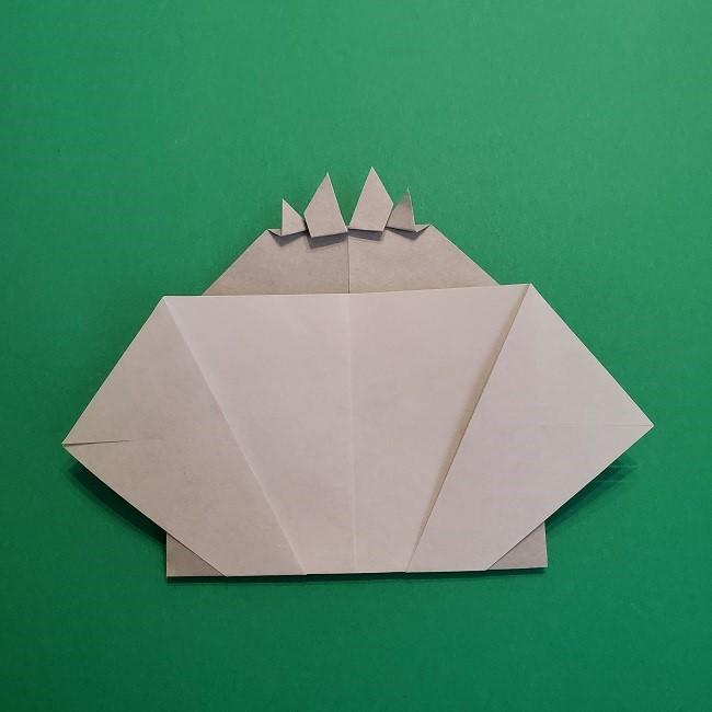 鬼滅の刃の折り紙 さねみ(不死川実弥)の折り方作り方5完成 (7)