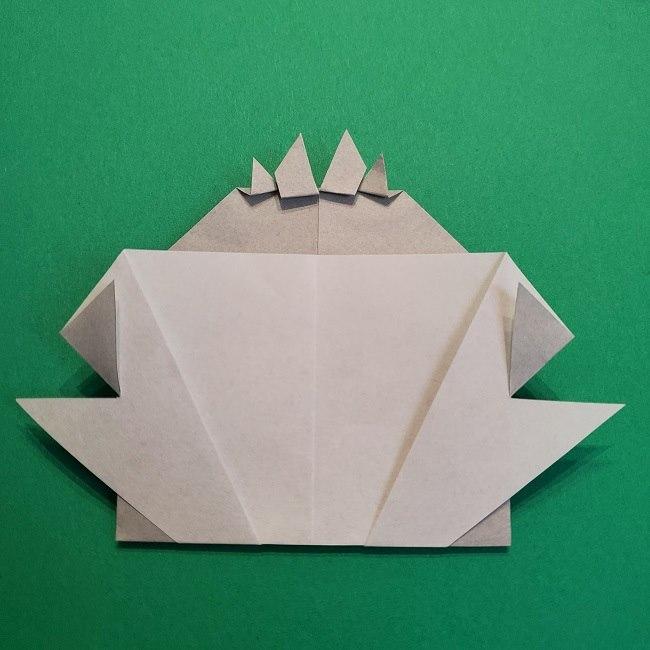 鬼滅の刃の折り紙 さねみ(不死川実弥)の折り方作り方5完成 (8)