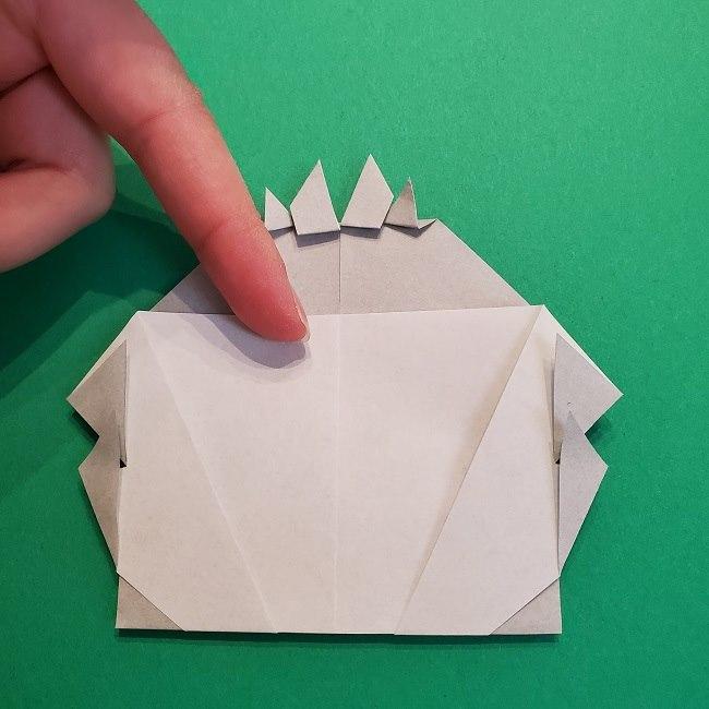 鬼滅の刃の折り紙 さねみ(不死川実弥)の折り方作り方5完成 (9)