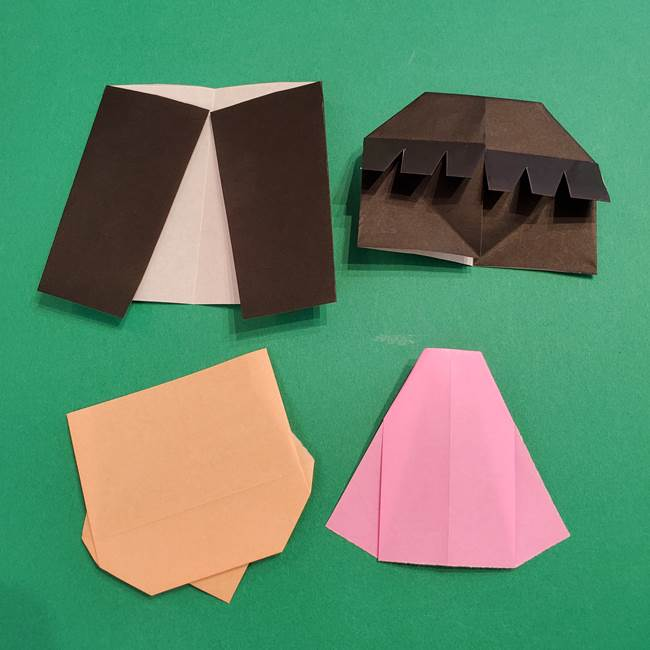 鬼滅の刃 折り紙のはなこの折り方作り方3(10)