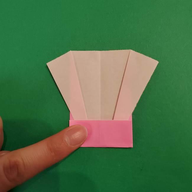 鬼滅の刃 折り紙のはなこの折り方作り方3(7)