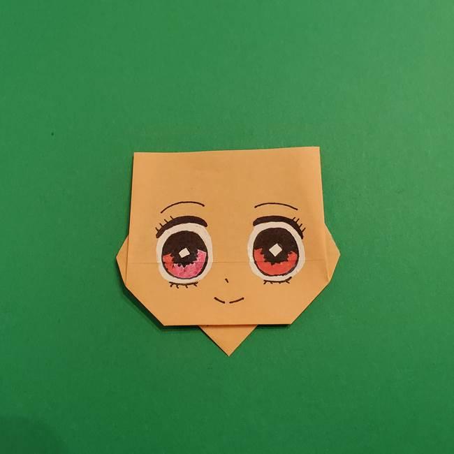 鬼滅の刃 折り紙のはなこの折り方作り方4(1)