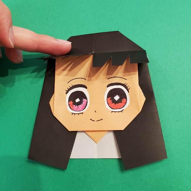 鬼滅の刃 折り紙のはなこの折り方作り方4(5)