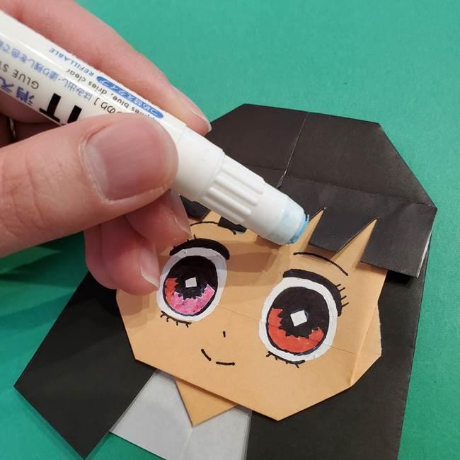 鬼滅の刃 折り紙のはなこの折り方作り方4(6)