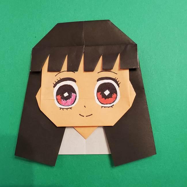 鬼滅の刃 折り紙のはなこの折り方作り方4(7)