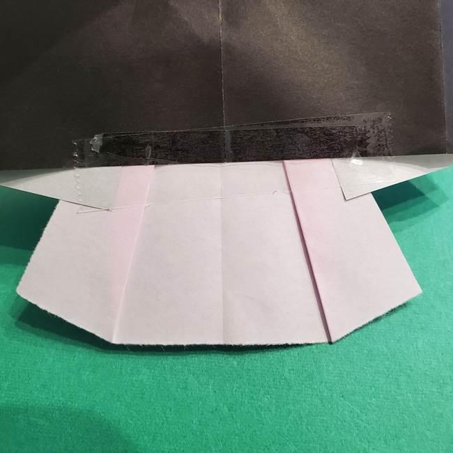 鬼滅の刃 折り紙のはなこの折り方作り方4(9)