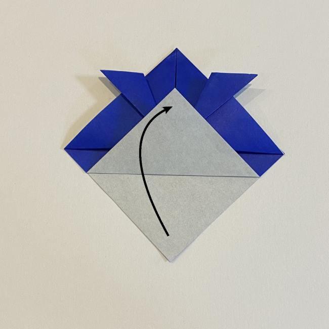 【基本】兜の折り方☆帽子のようにかぶれるよ♪ (8)