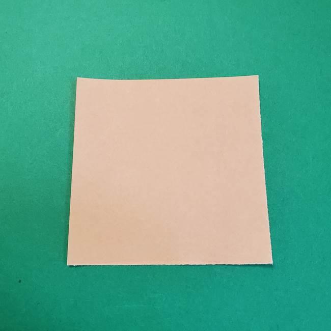 きめつのやいばの折り紙 鬼舞辻無惨の折り方作り方1顔(1)