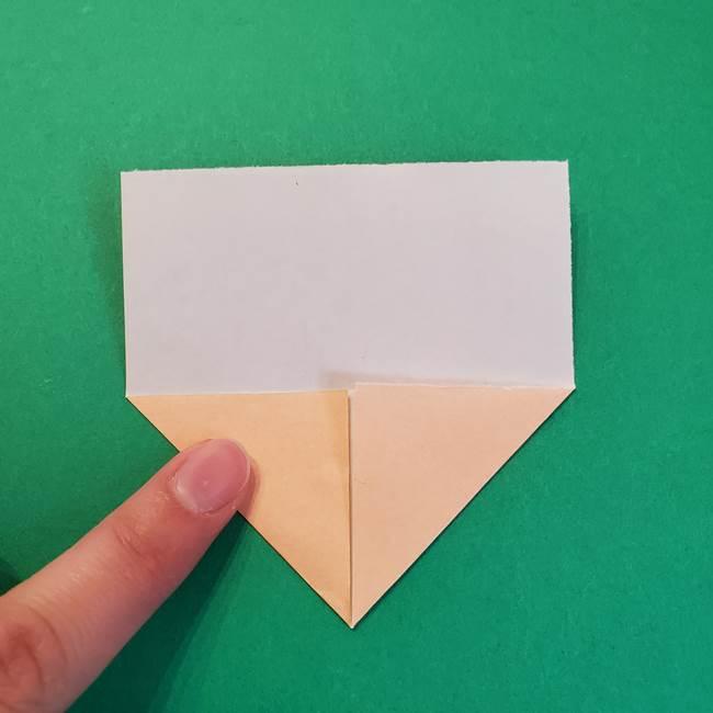 きめつのやいばの折り紙 鬼舞辻無惨の折り方作り方1顔(4)