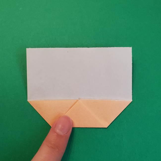 きめつのやいばの折り紙 鬼舞辻無惨の折り方作り方1顔(5)