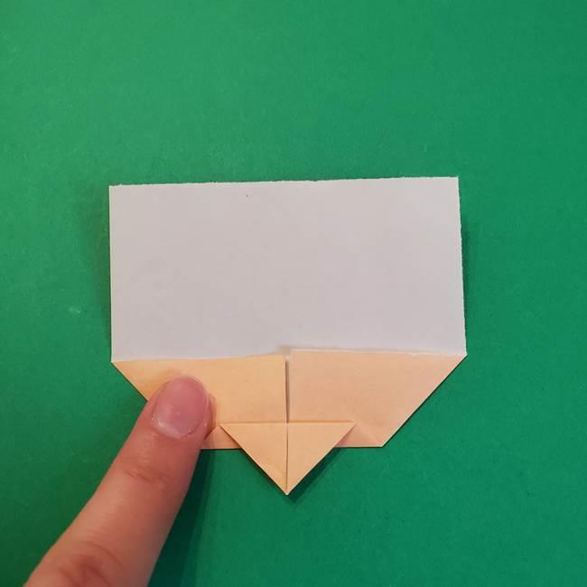 きめつのやいばの折り紙 鬼舞辻無惨の折り方作り方1顔(6)