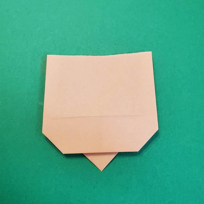 きめつのやいばの折り紙 鬼舞辻無惨の折り方作り方1顔(8)