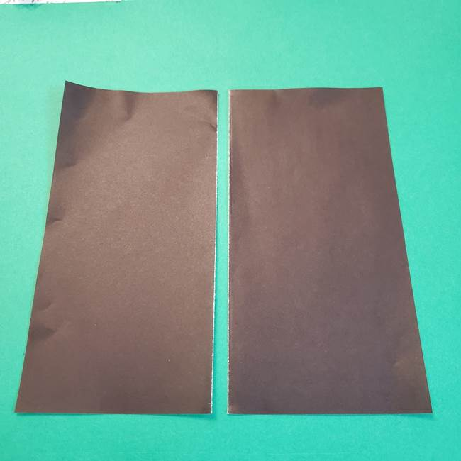 きめつのやいばの折り紙 鬼舞辻無惨の折り方作り方2髪(2)