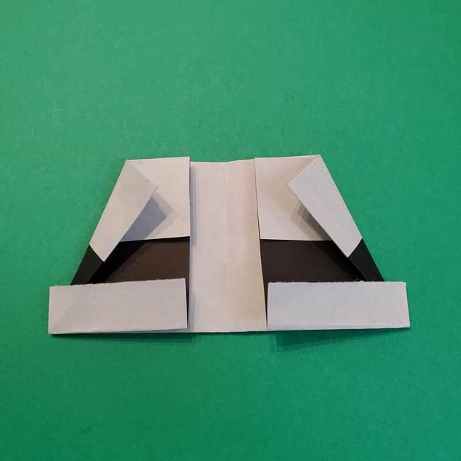 きめつのやいばの折り紙 鬼舞辻無惨の折り方作り方3帽子(10)