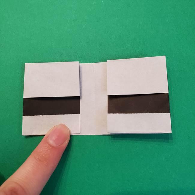 きめつのやいばの折り紙 鬼舞辻無惨の折り方作り方3帽子(6)