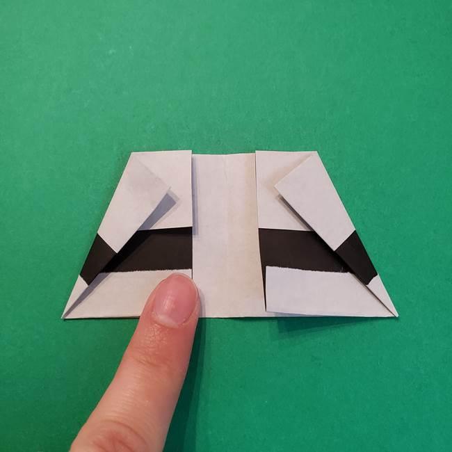 きめつのやいばの折り紙 鬼舞辻無惨の折り方作り方3帽子(7)
