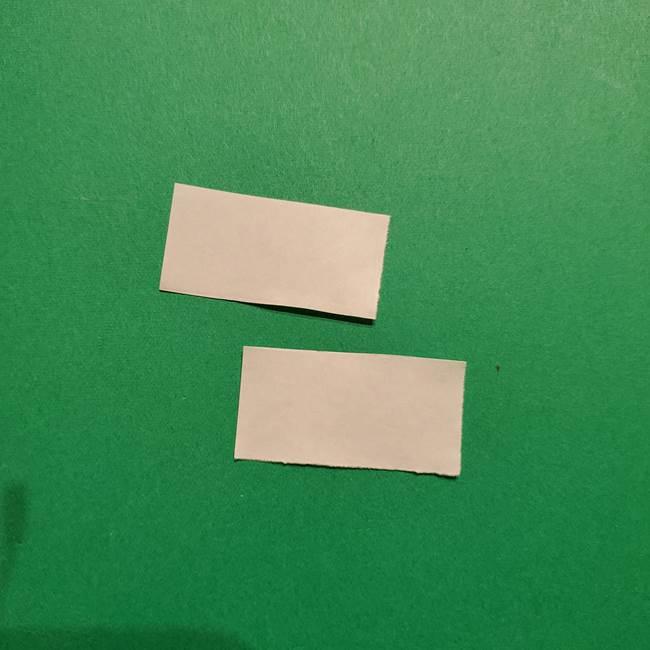きめつのやいば よりいちの折り紙の折り方・作り方3耳飾り(2)