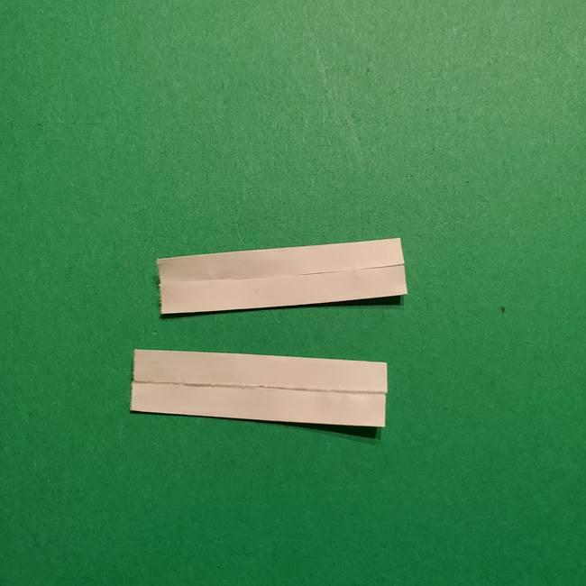 きめつのやいば よりいちの折り紙の折り方・作り方3耳飾り(5)