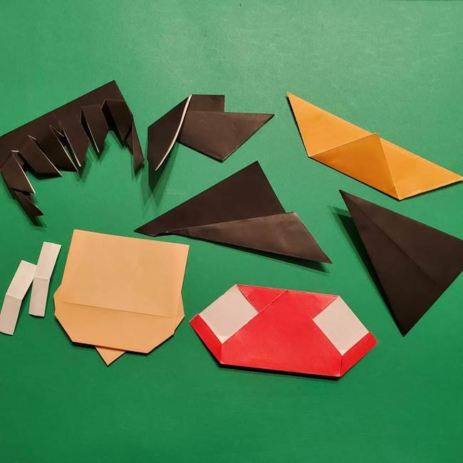 きめつのやいば よりいちの折り紙の折り方・作り方5羽織(7)