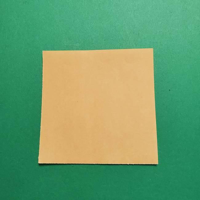 はがねづかの折り紙の折り方・作り方1顔(1)