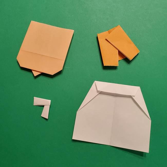 はがねづかの折り紙の折り方・作り方3着物(7)