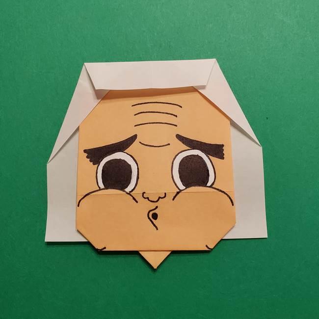 はがねづかの折り紙の折り方・作り方4調整(3)