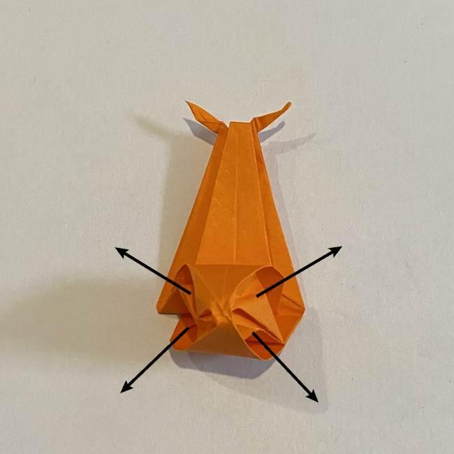 カタツムリの折り紙 リアルで立体的な折り方作り方 (50)