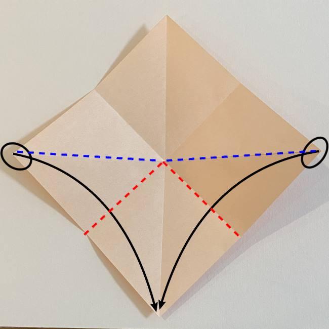 カタツムリの折り紙 リアルで立体的な折り方作り方 (6)