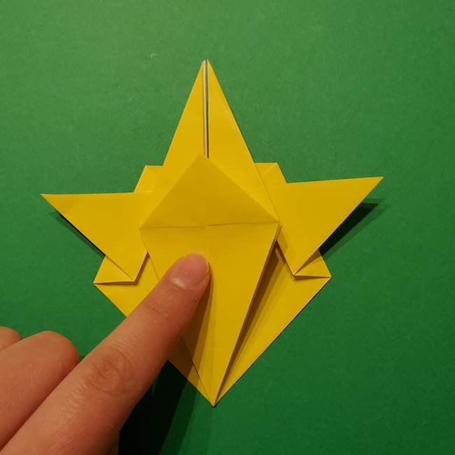 サルノリの折り紙の意外と簡単な作り方折り方(25)